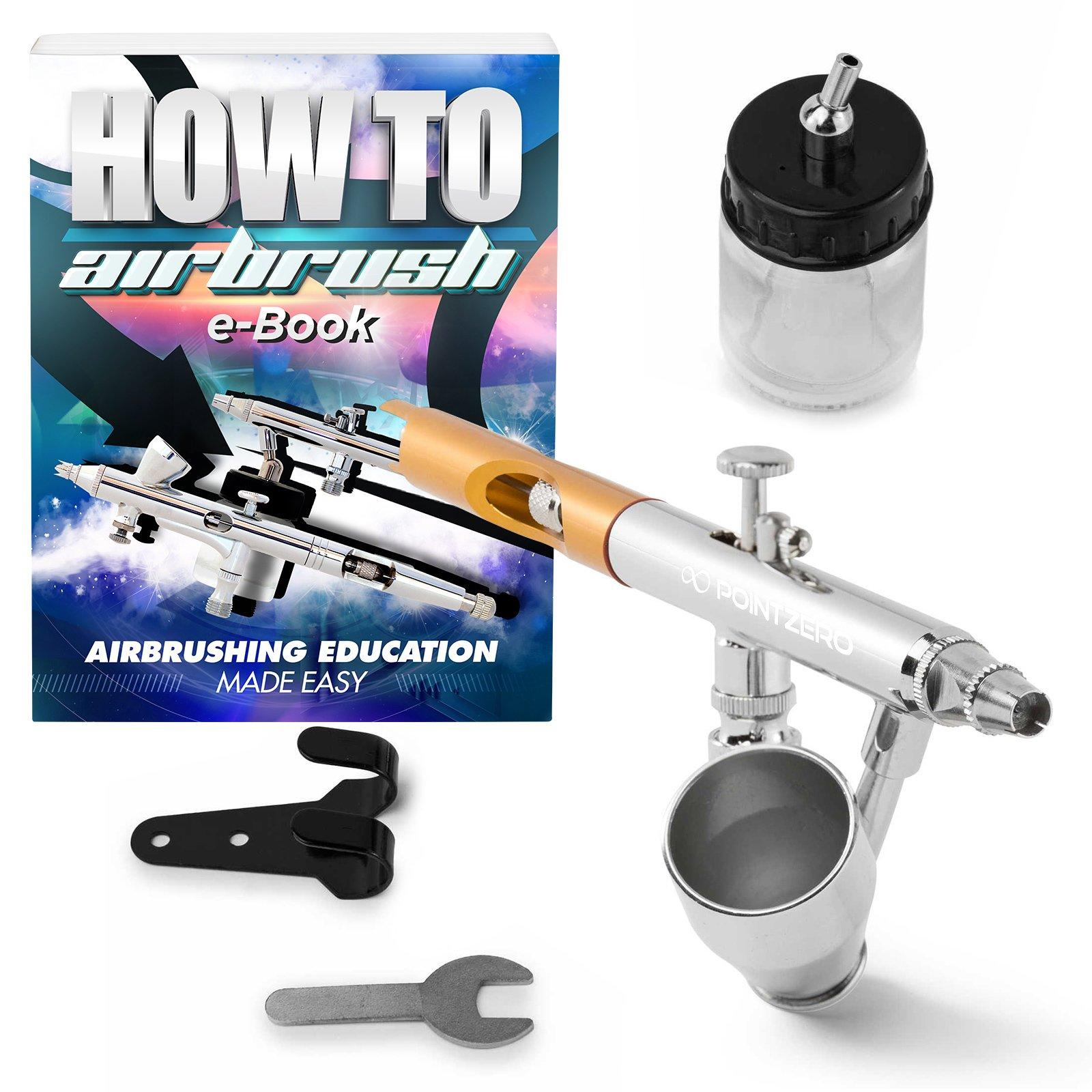 Set De Aerografia Pointzero Dual-action - 0.35mm - 22cc Y...