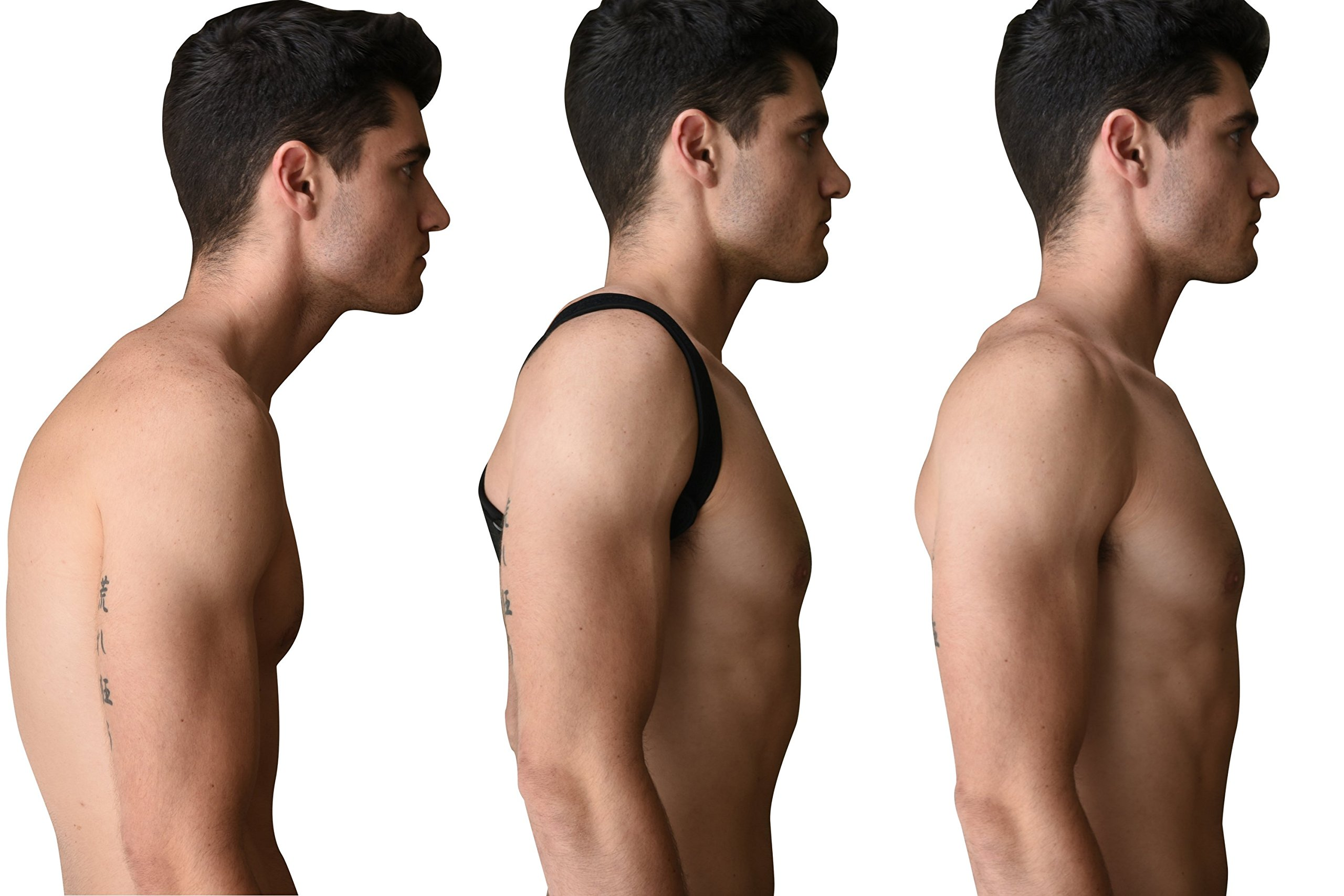 Back Posture Corrector by Atlus Strong - Upper Back and Clavicle Support Brace - Relieves Back and Shoulder Pain - Improves Posture Immediately - Adjustable Size - for Men and Women by Atlus Strong (Image #4)