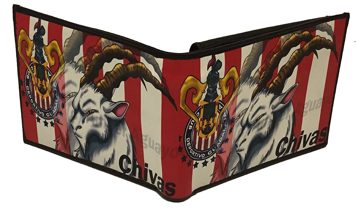 Club Deportivo Guadalajara Las Chivas Soccer cartera billetera de piel at Amazon Mens Clothing store: