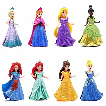 8-PC Doll Gift Set: 3 75 Disney Princess, featuring Anna and Elsa from  Frozen