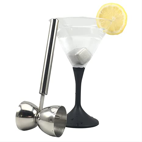 Amazon.com: Medidor doble cócteles de acero inoxidable taza ...