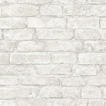 Inhome White Denver Brick Peel Stick Wallpaper Amazon Com