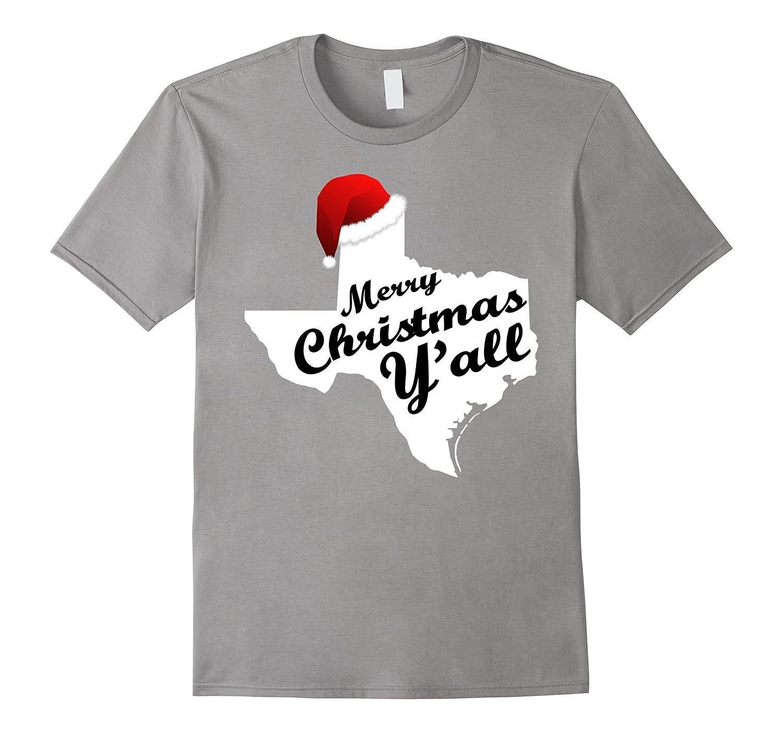 Texas Christmas Shirt - Merry Christmas Y'all Tee-ANZ
