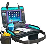 ORGANIZED EMPIRE's Detachable 4 in 1 Kids Travel Tray, Storage Organizer, Carry Bag & Tablet Holder for Kids all in one. Most Stable Toddler Car Seat Tray toys on the Market, no Lap Balancing Required