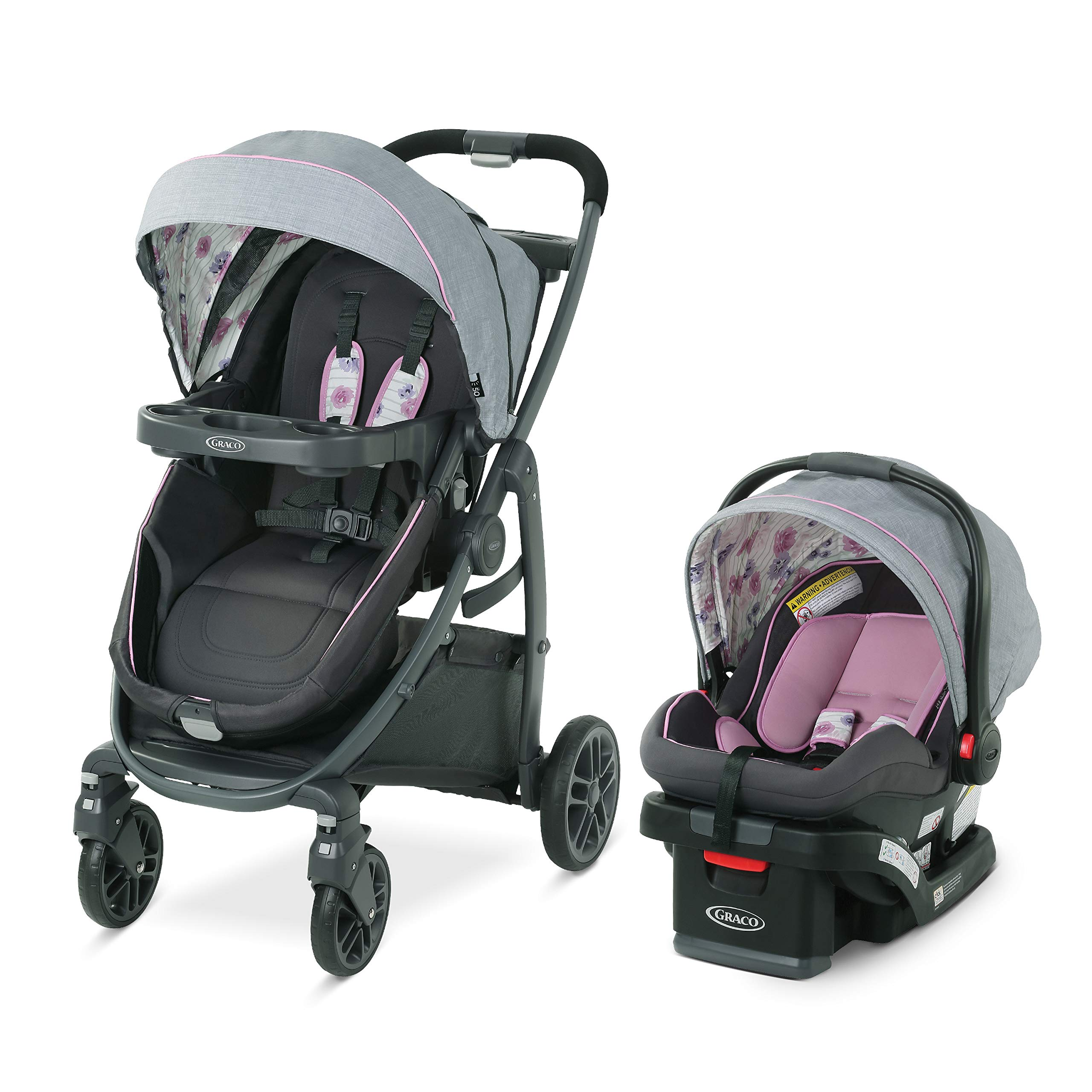 Graco Modes Bassinet Travel System | Includes Modes Bassinet Stroller and SnugRide SnugLock 35 Infant Car Seat, Carlee by Graco