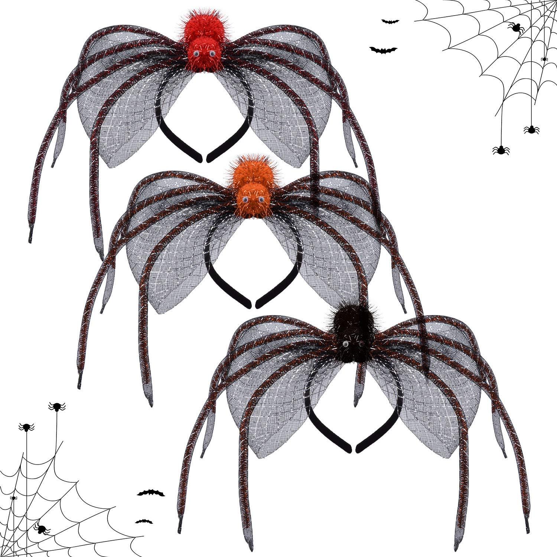 Halloween Headband,Kapmore 3PCS Creative Spider Decor Costume Headband Party Hair Hoopfor Kids Adult