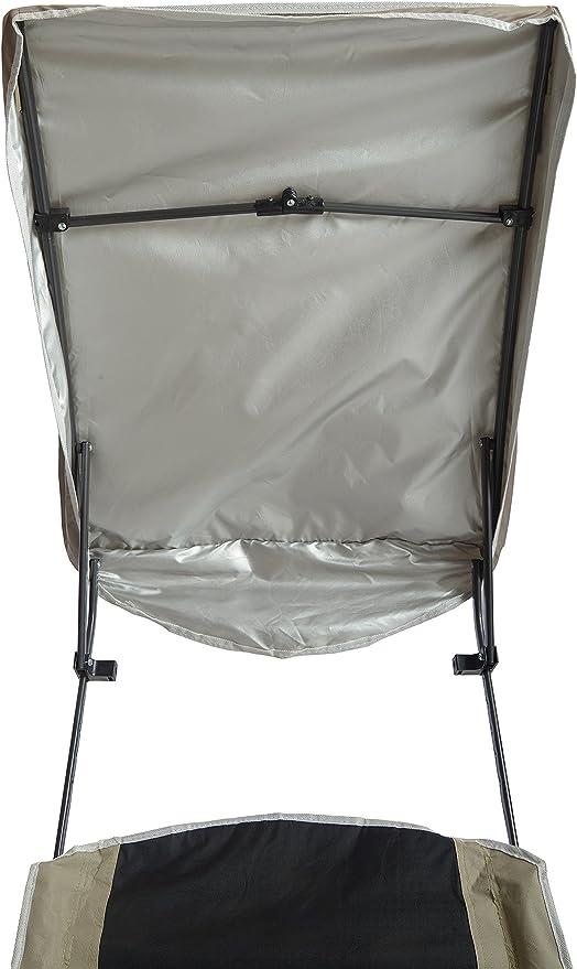 QuikShade Pro Comfort Silla Plegable para Acampada Color Negro y Blanco