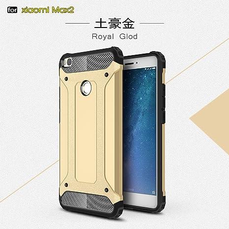 xinyunew Xiaomi Mi MAX 2 Funda, 360 Grados Protección +Vidrio Templado Protector Pantalla Silicona Caso Cover Case Carcasas TPU + plastico Anti ...