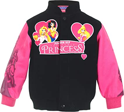 J.H Design Girls Fairytale Princesses Snap Up Jacket a Toddler Youth and Baby Girl Jacket