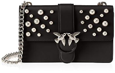 Pinko Love Leather Pearls Tracolla Vitello Vintage+perle 8e580cfaa28da