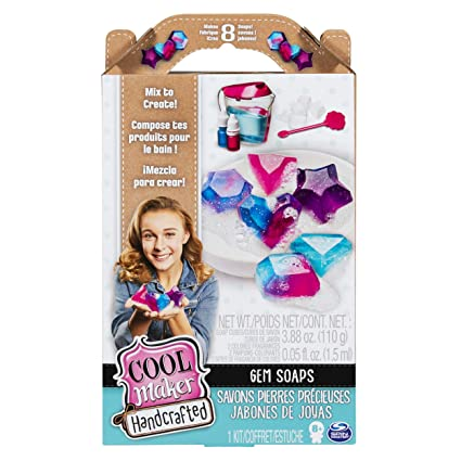 Amazon.com: Cool Maker, Handcrafted Gem Soaps Activity Kit ...