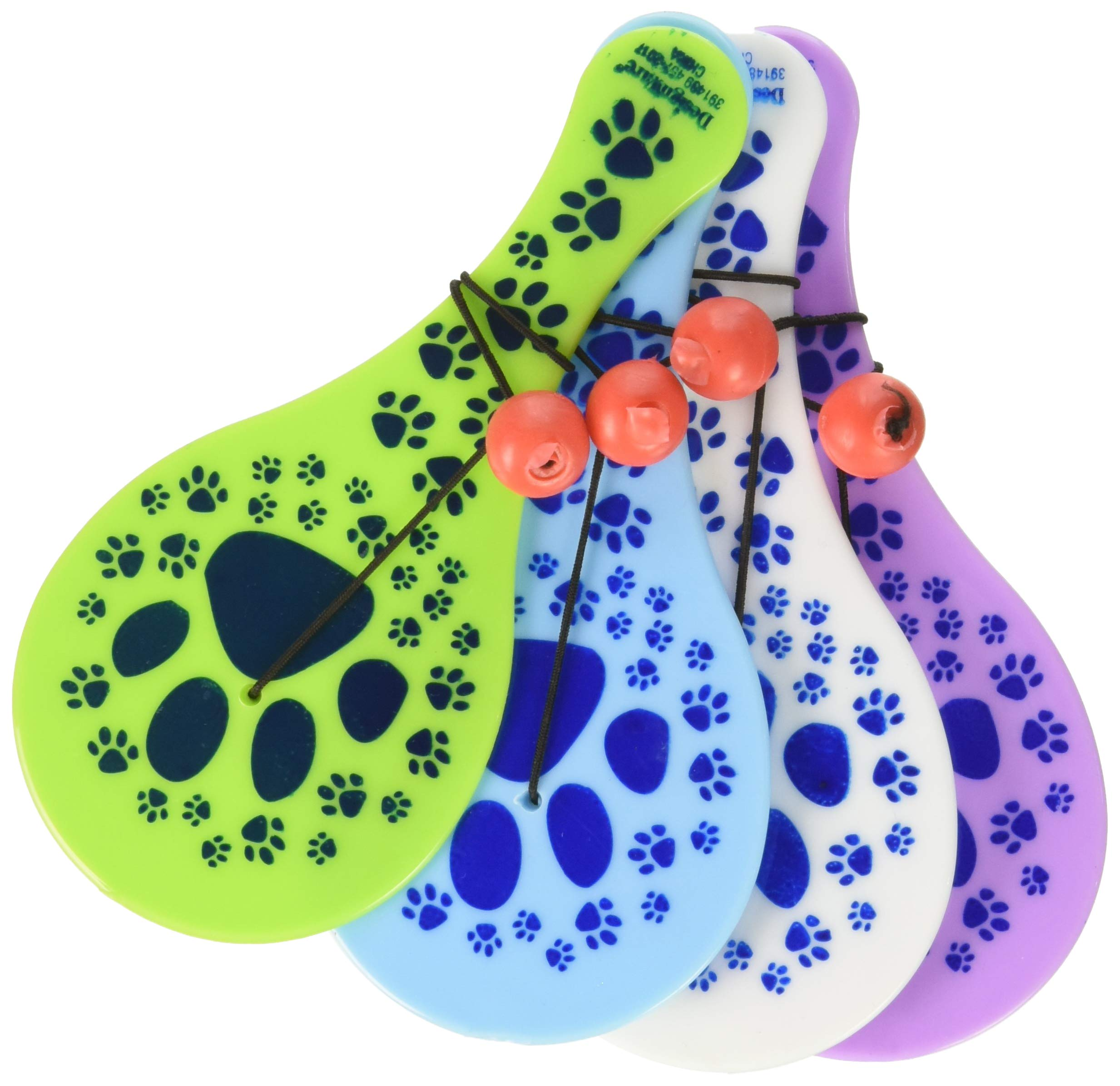 Amscan 391489 Cute Party Pups Paddle Ball Birthday Party Favours Toy & Prize Giveaway (12 Pack), Multi Color; 5 3/4 x 7 1/2