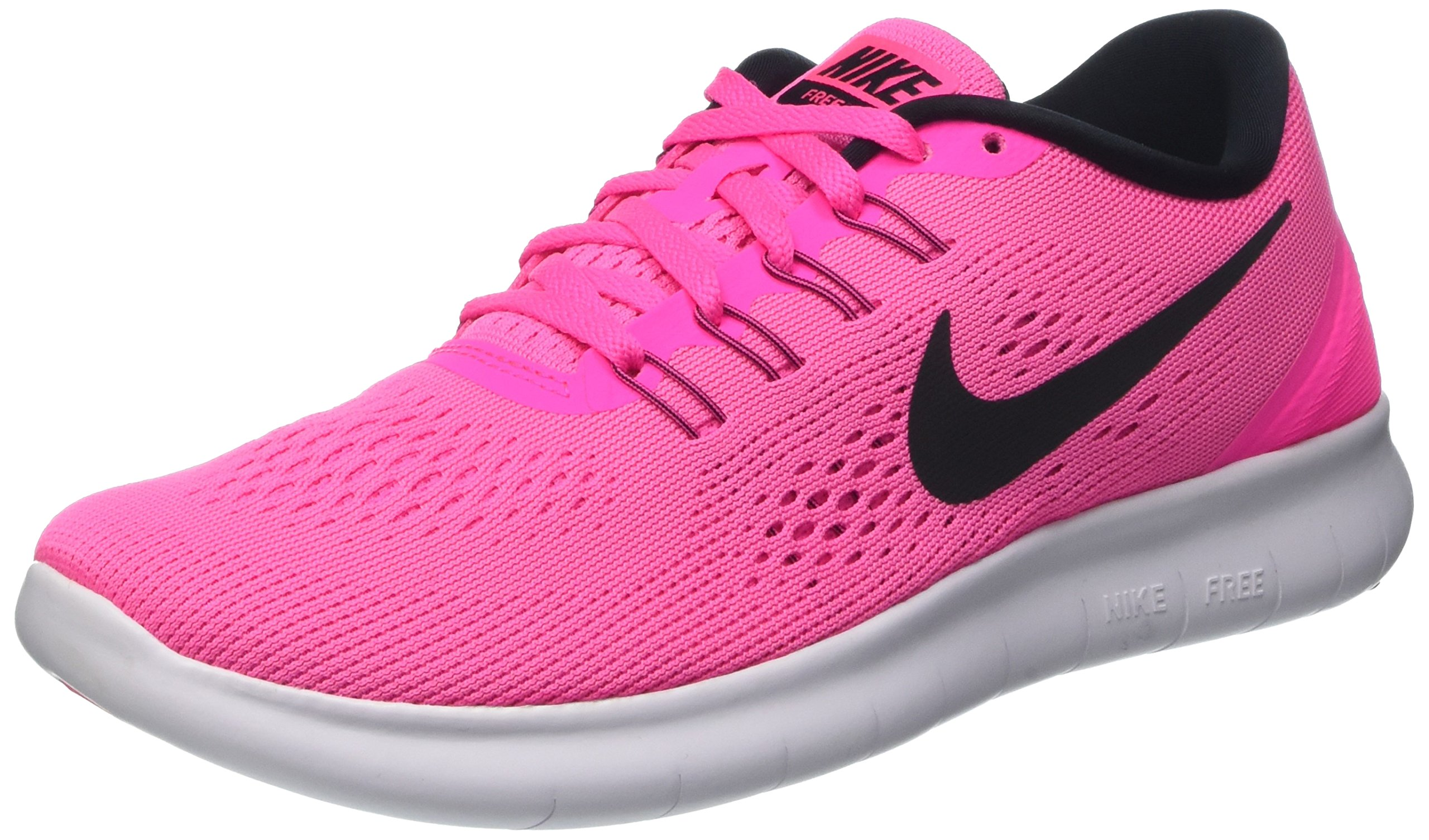Nike Womens Free RN Running Shoes Pink Blast/Fire Pink/White/Black 5 B(M) US by Nike (Image #1)