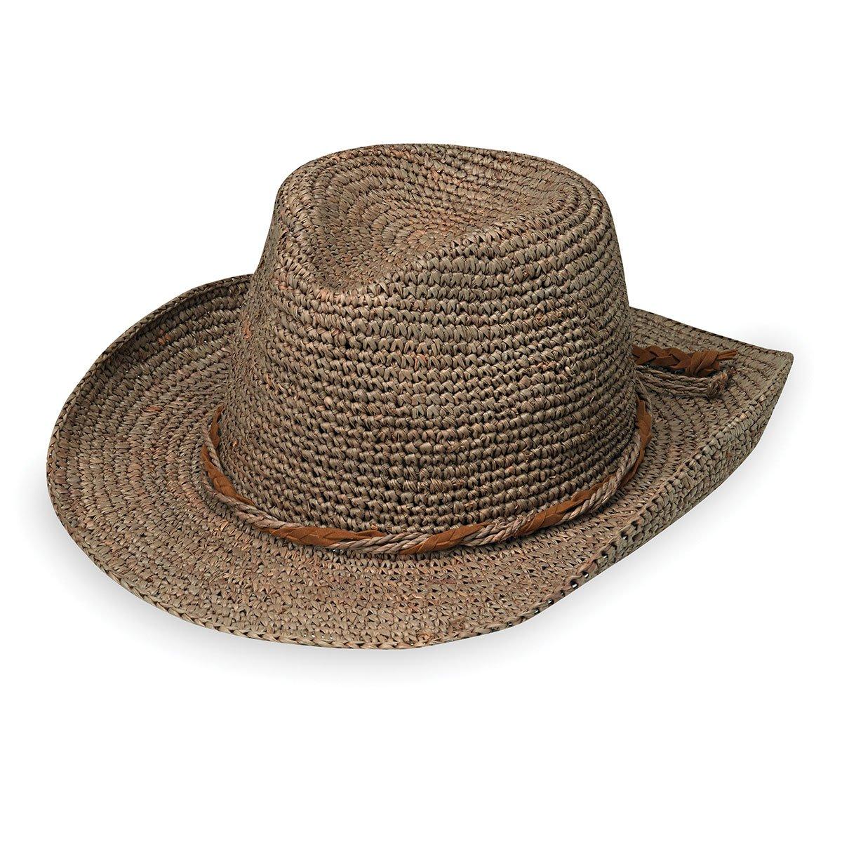 Wallaroo Hat Company Women's Hailey Cowboy Hat - Raffia, Modern Cowboy, Designed in Australia, Mushroom by Wallaroo Hat Company