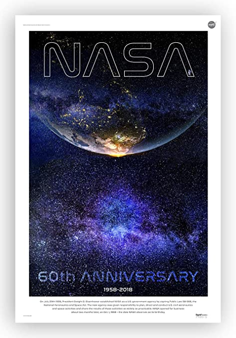 Nasa Framed Canvas Giclee Vintage Space Poster