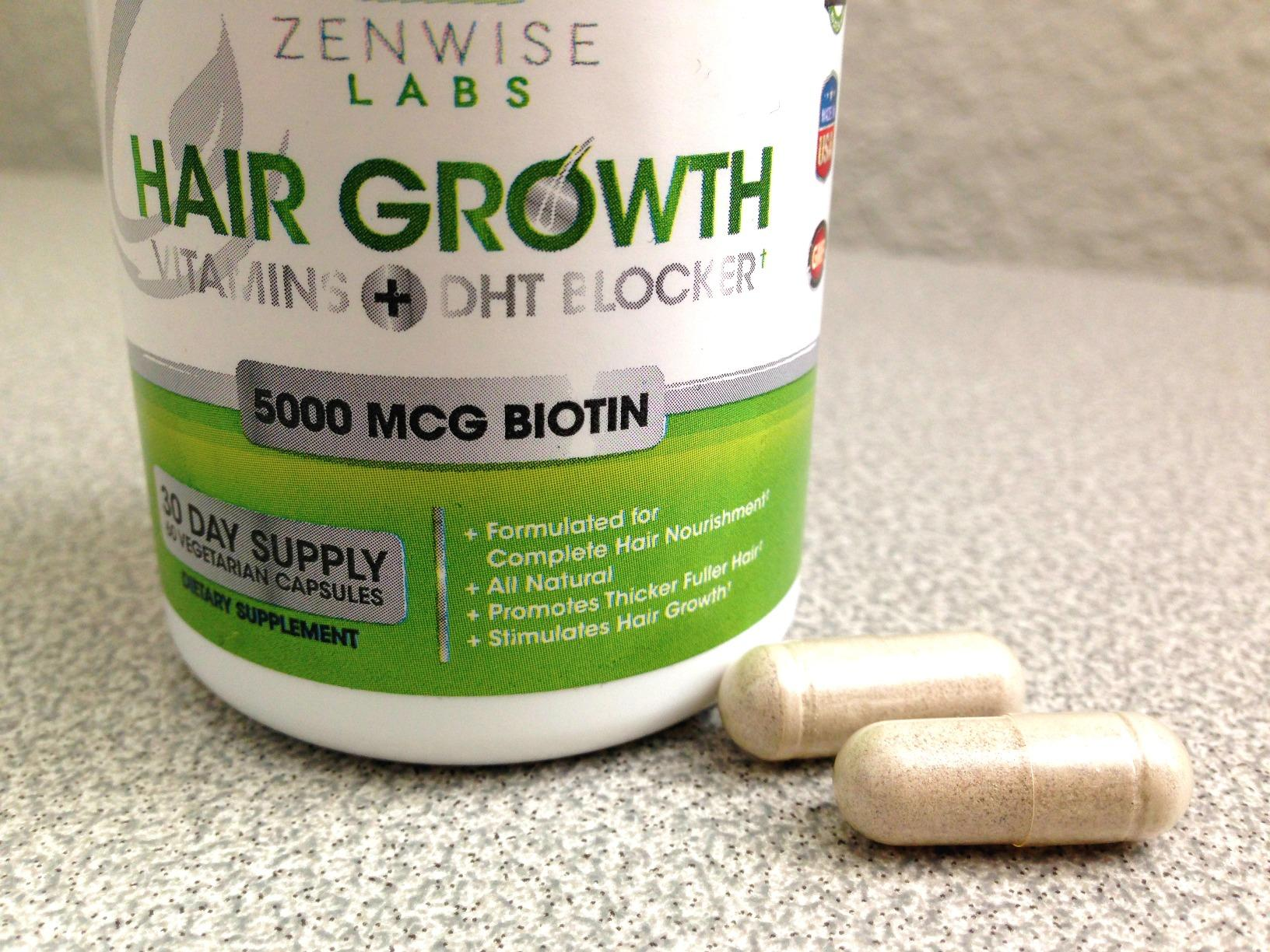 Hair Growth Vitamins Supplement - 5000 mcg Biotin & DHT Blocker Hair Loss