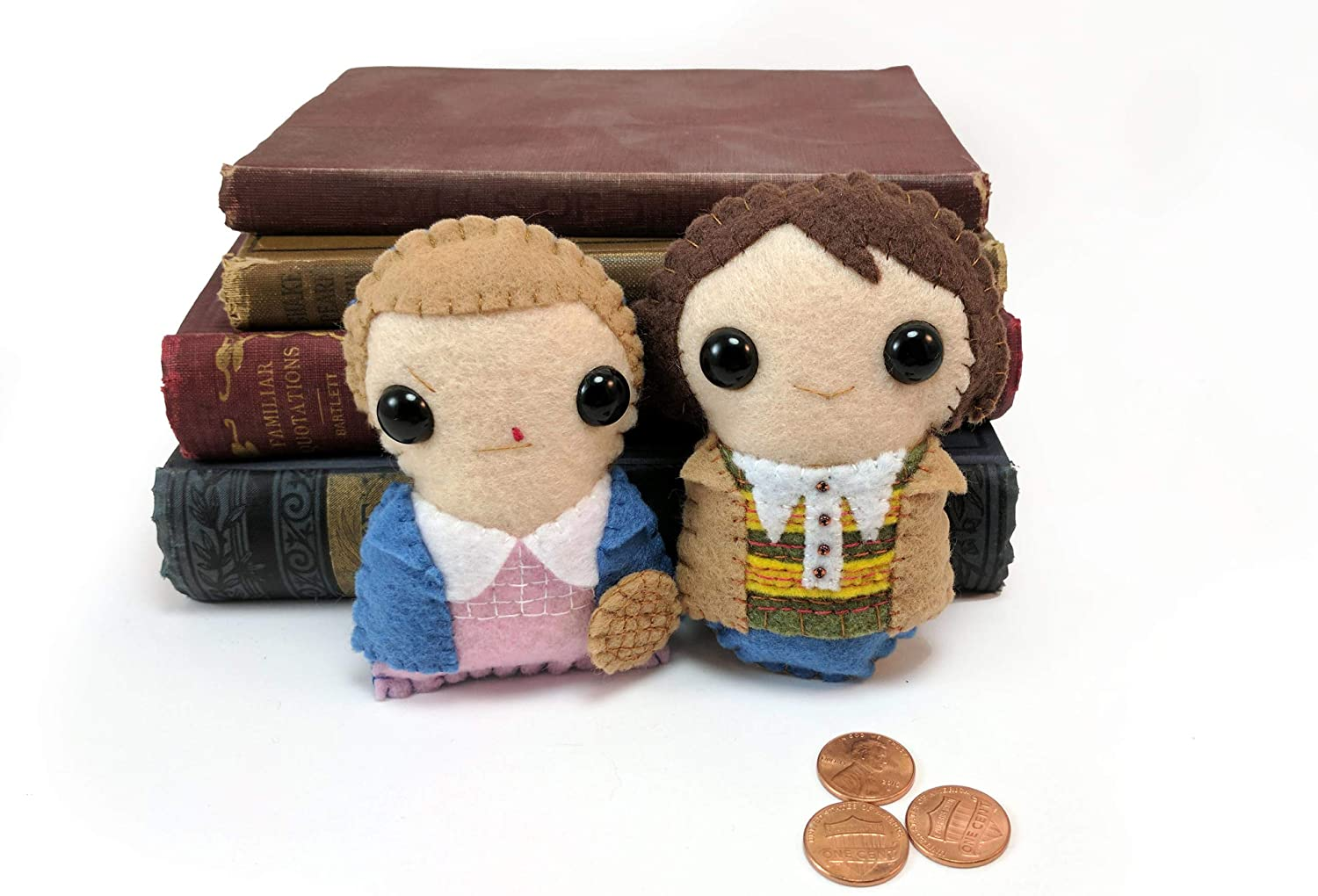 Stranger Things plushies Eleven and Mike made to order