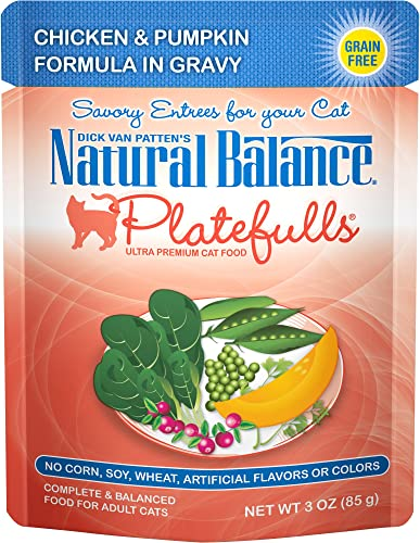 Natural Balance Platefulls Wet Cat Food in Gravy, 3 Ounce Pack of 24 , Grain Free