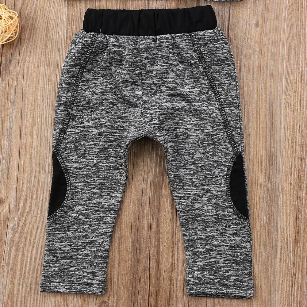 XARAZA Toddler Kids Baby Girls Tracksuit Outfits Crop Top Vest Pants Leggings Sports Clothing Set