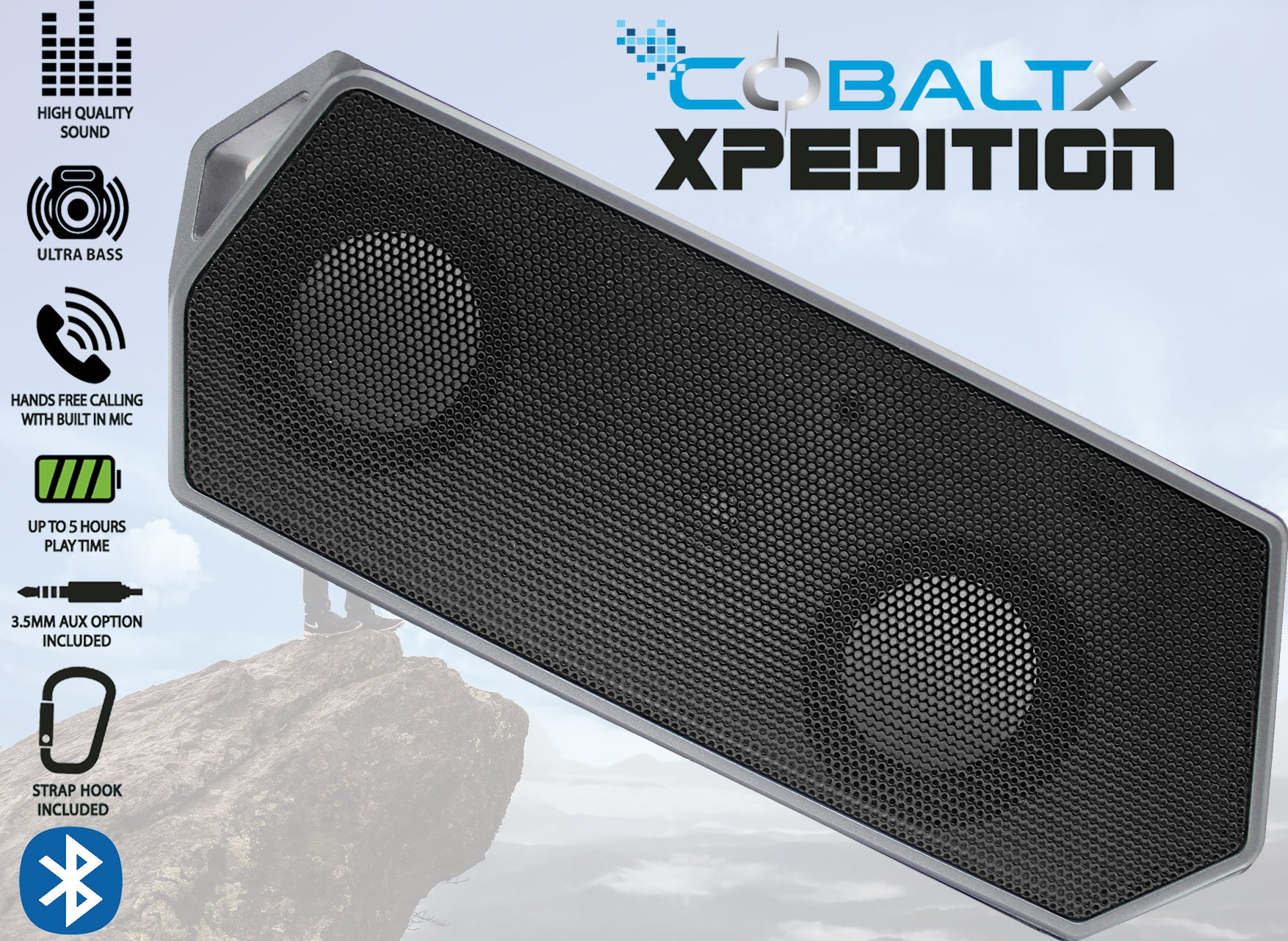 Parlante Bluetooth COBALTX Xpedition Rugged Portable Wireles