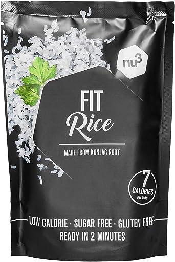 nu3 Fit Rice - 200 g de arroz konjac – Solo 7 calorías por porción – Arroz con glucomanano – Hecho con harina de konjak – Alternativa al arroz ...