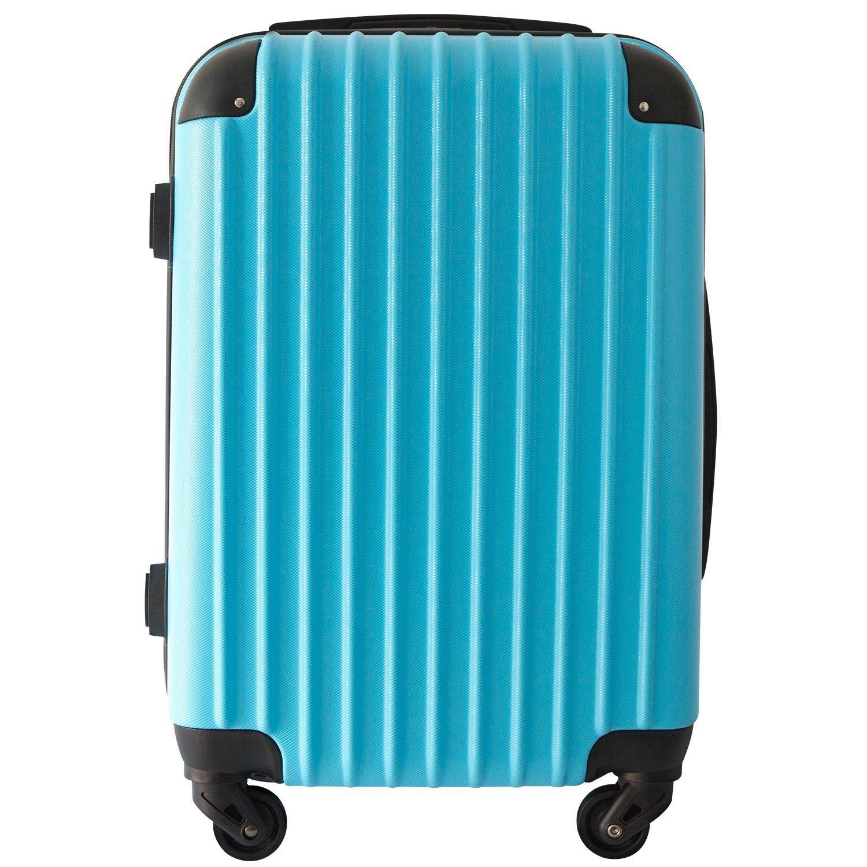【レセナ】RESENA スーツケース 超軽量 キャリーケース ファスナー ABS 静音キャスター おしゃれ かわいい 旅行 出張 B071FMLVMS L サイズ_ダイヤルロック|ライトブルー ライトブルー L サイズ_ダイヤルロック