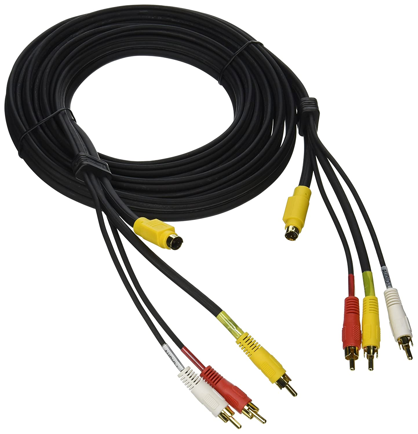 Cables To Go 29154 Value Series 4-in-1 RCA Type/S- 12 Feet Video Cable (Black) CABLES TO GO CONSIGNMENT