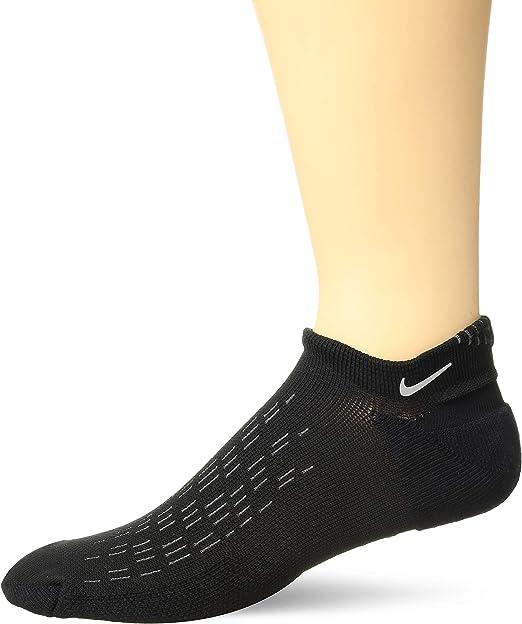 Nike Mens Elite Running Cushion Crew Socks 10-11.5 Black Grey