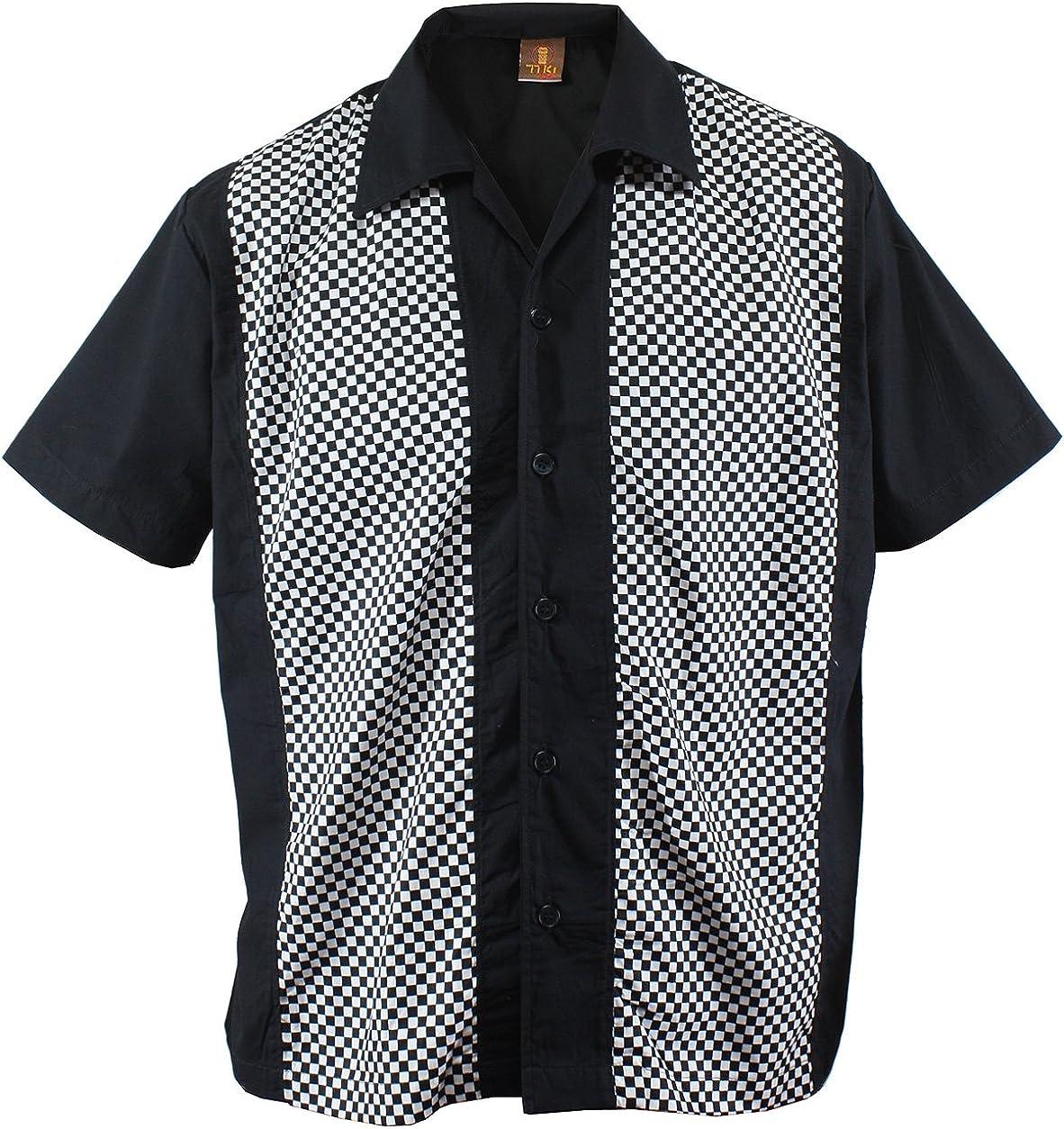 Camisa para hombre, diseño a cuadros, color negro: Amazon.es: Ropa y accesorios