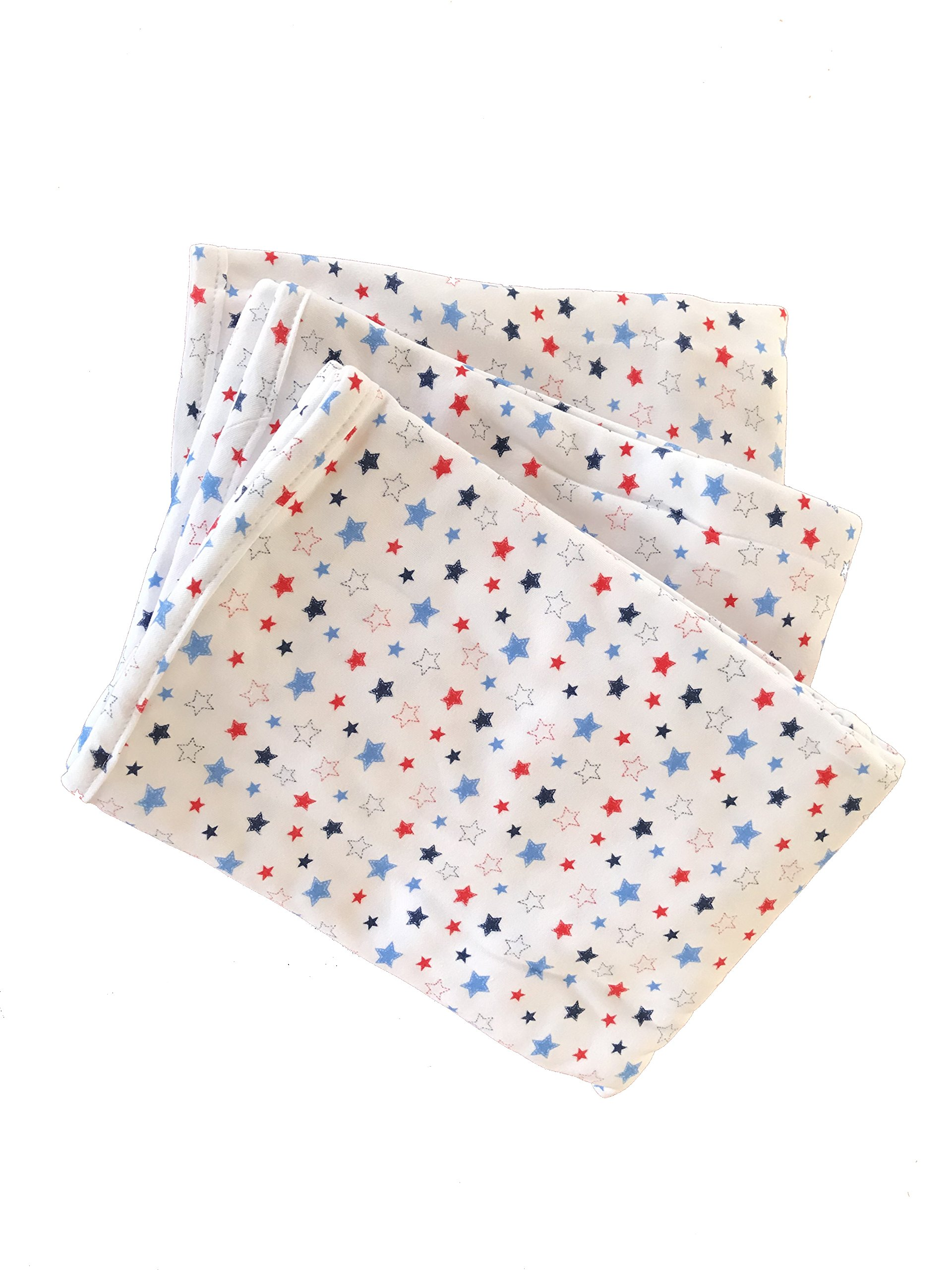 Patriotic Organic Cotton Receiving Blankets 3 Pack by Ecobaby Organics