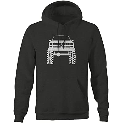 1980's 90's Chevy K5 Blazer Lifted Mud Tires Truck Sweatshirt at Amazon Men's Clothing store