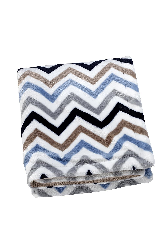 Sadie & Scout Hampton Blue Chevron Blanket Crown Crafts Infant Products Inc. 6976501