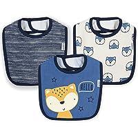 Gerber Baby Boys 3-Pack Dribbler Bib, awesome fox, One Size