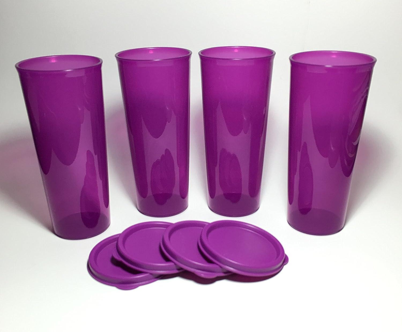 Amazon Com Tupperware Tumbler Set 16 Oz Purple Tumblers Water Glasses