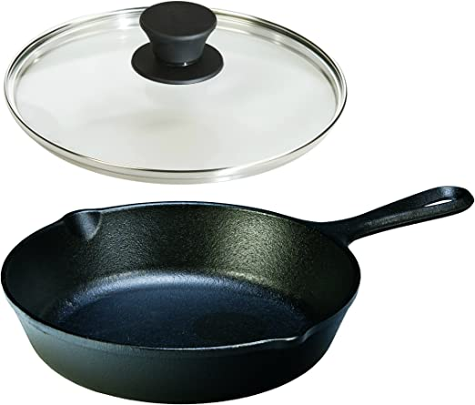 15 inch Tempered Glass Lid fits Lodge 15 Inch Cast Iron Skillets /& 14 Inch Woks
