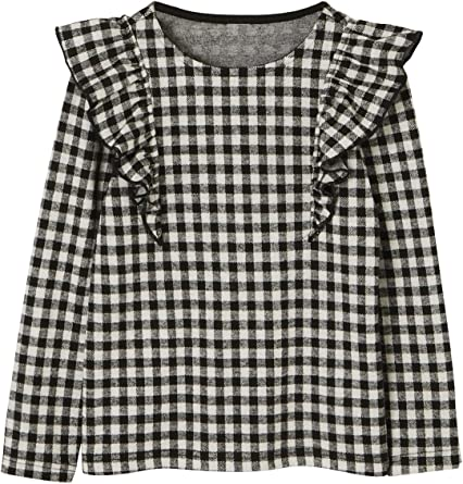 Vertbaudet - Camiseta de manga larga para niña con volantes