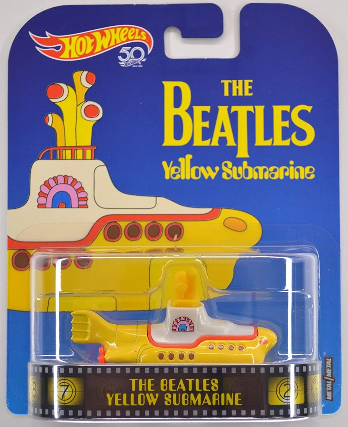 Hot Wheels Retro Entertainment Diecast Beatles Yellow Submarine Mattel FYP71
