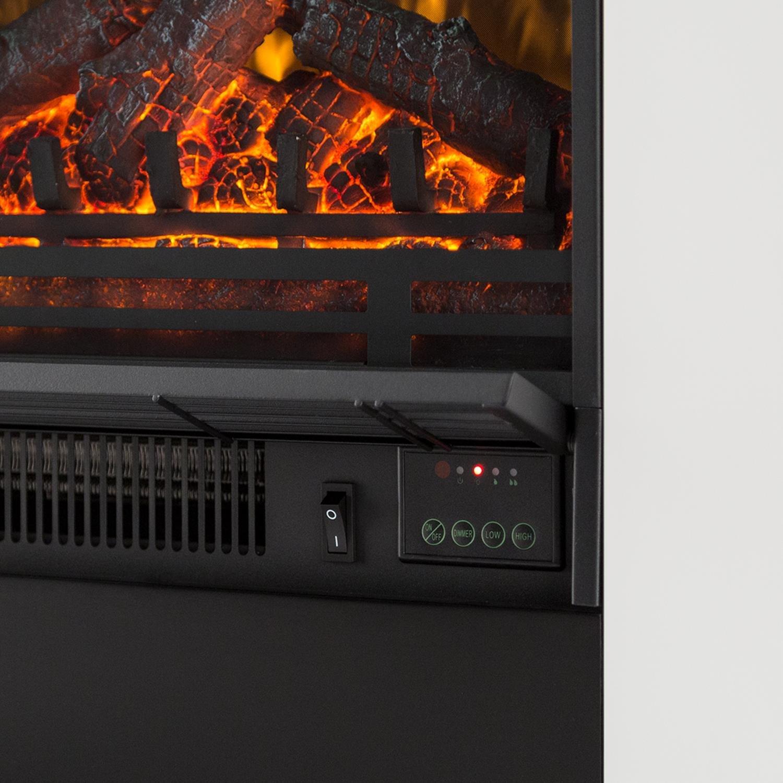 Temporizador semanal Temperatura Ajustable Klarstein Studio 5 Chimenea el/éctrica 5 Niveles Brillo Radiador Silenciosa Blanco Calefacci/ón Mando a Distancia 900 /ó 1800 W