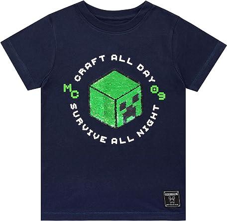 Minecraft Camiseta de Manga Corta para niños Creeper: Amazon.es: Ropa y accesorios