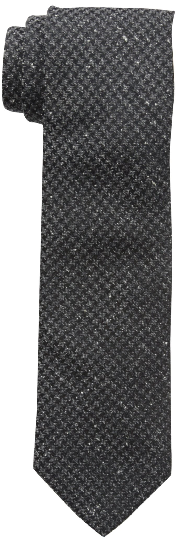 Jack Spade Men's Wool Silk Dogtooth Donegal Tie, Grey, Total Quantity