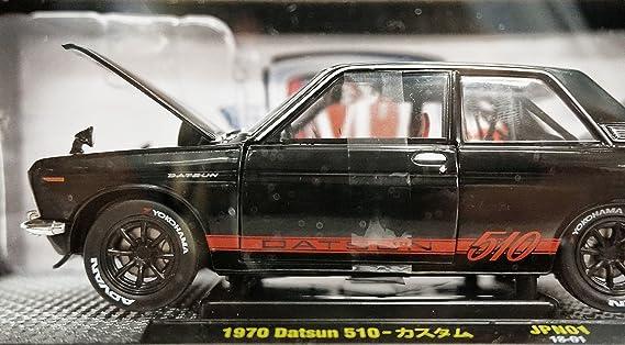 Amazon.com: Nissan 1:24 Scale 1970 Datsun 510 (Glossy Black): Toys & Games