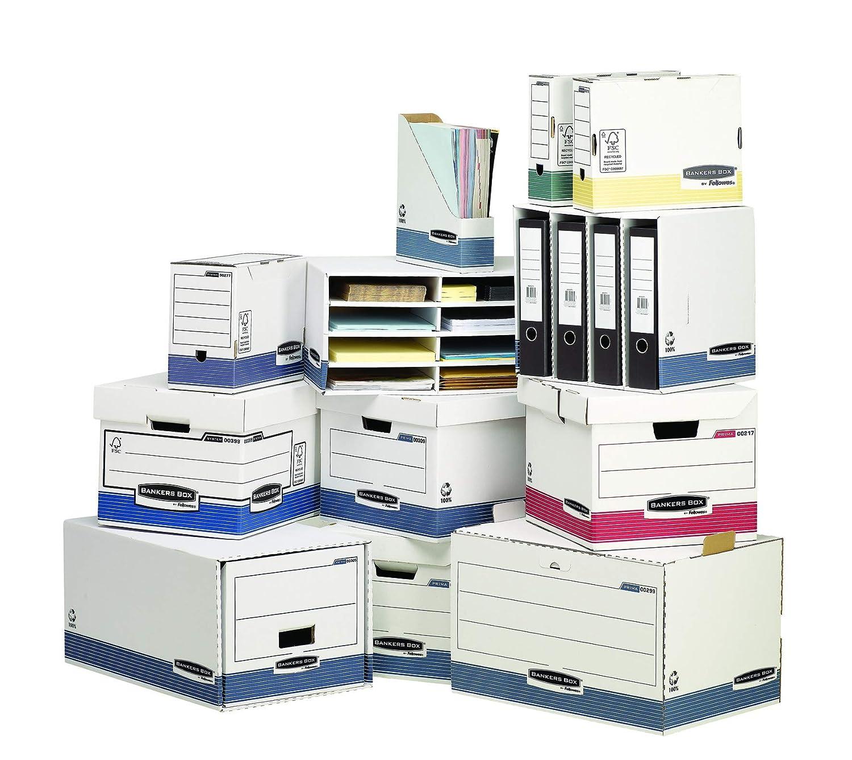 FSC Confezione da 10 Pezzi Dorso 200 mm Bankers Box 0028501 Scatola Archivio A4 System