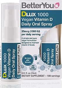 Better You Dlux 1000 Vegan Vit. D En Spray Oral 15Ml - 210 g