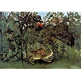 Henri Rousseau: The Hungry Lion Throws Itself on the Antelope. Fine Art Print/Poster. Size A3 (42cm x 29.7cm)