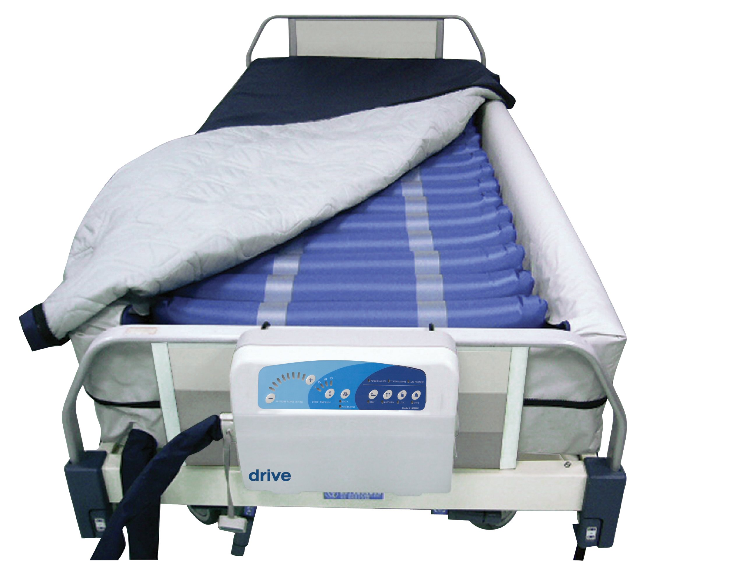Drive Medical Med Aire 8'' Defined Perimeter Low Air Loss Mattress Replacement System with Low Pressure Alarm, 8''