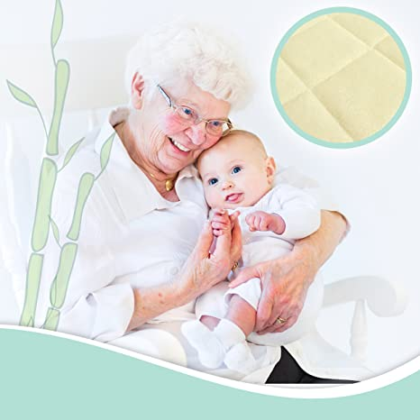 Amazon.com : Brooklyn Bamboo Softest Organic #1 Portable Crib Mattress Pad  Protector Quilted, Deep Skirt, Hypoallergenic, Breathable, Fits ALL Mini  Cribs : ...