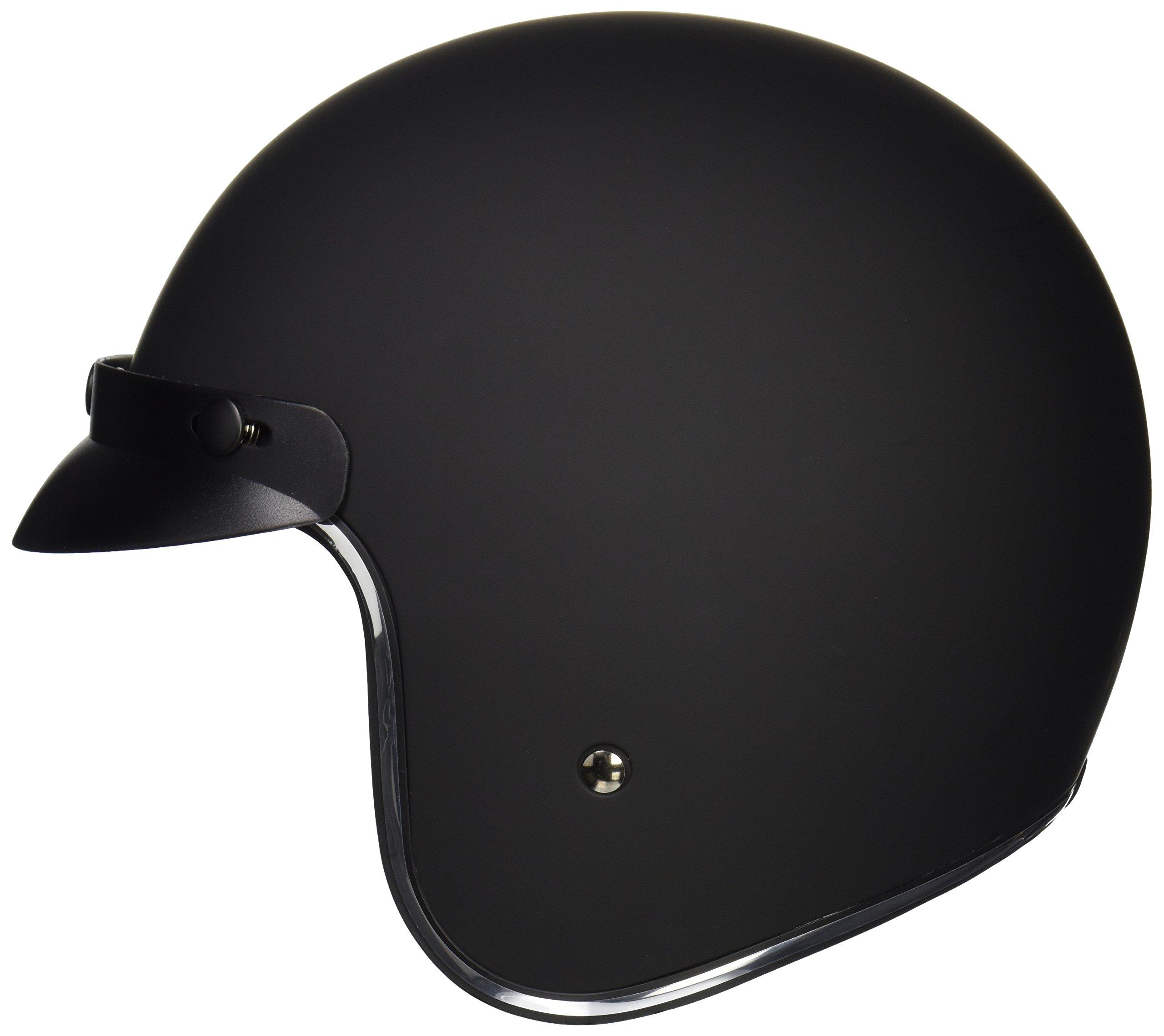 Vega Helmets X380 Vintage Motorcycle Helmet for Men /& Women Matte Black, X-Small Classic Retro Open Face Design Lightweight DOT Certified for Motorbike Cruiser Moped Scooter ATV