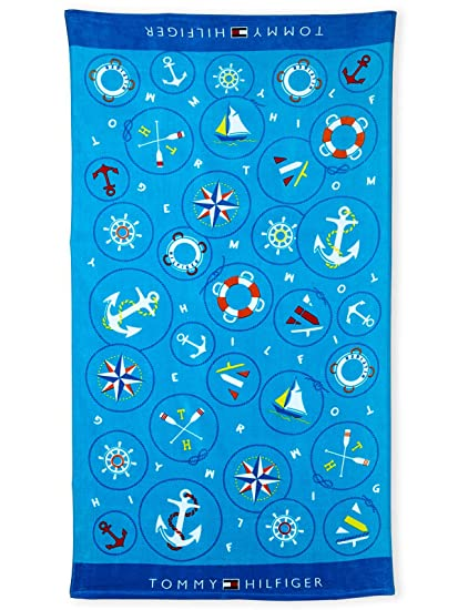 Toalla de playa Tommy Hilfiger Nautical Íconos (87 x 165 cm)