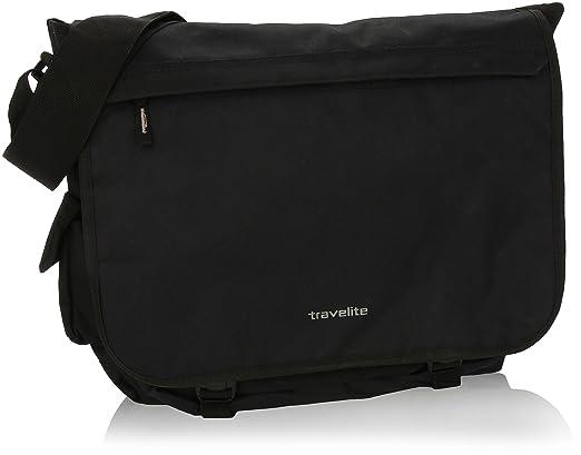 100 opinioni per Travelite 96248 Borsa Messenger Basics, 25 litri, Nero