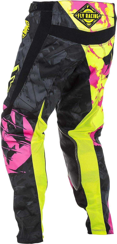 24 Outlaw Fly Racing 2018 Youth Kinetic Pants NEON Pink//HI-VIZ